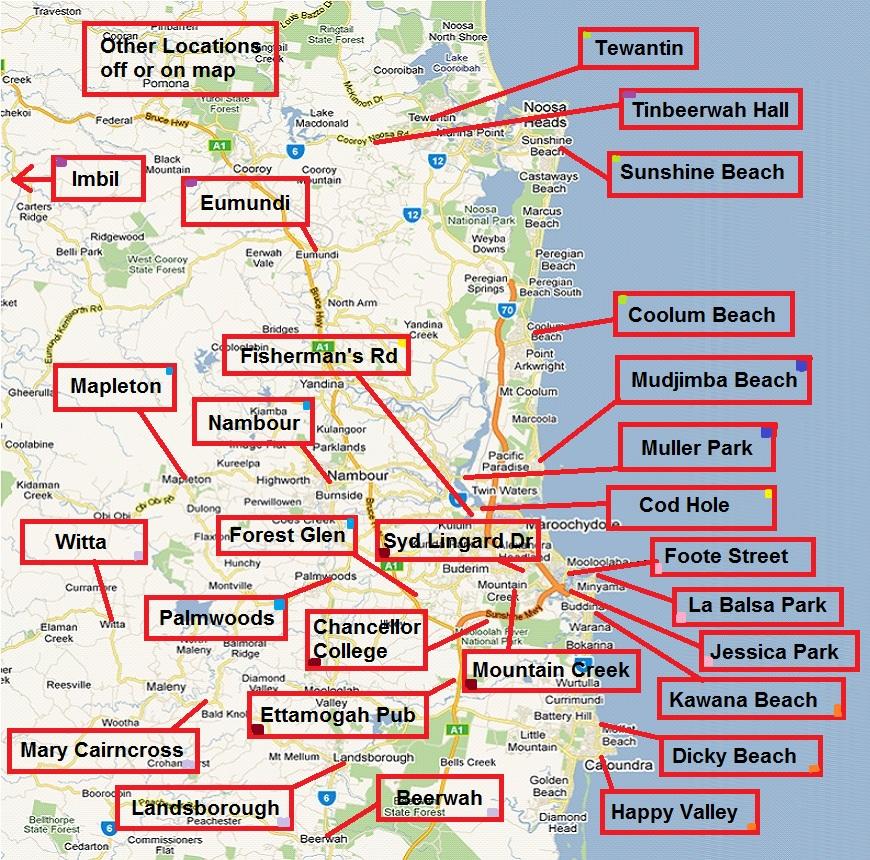 Sunshine Coast Bicycle Touring Club Ride Maps